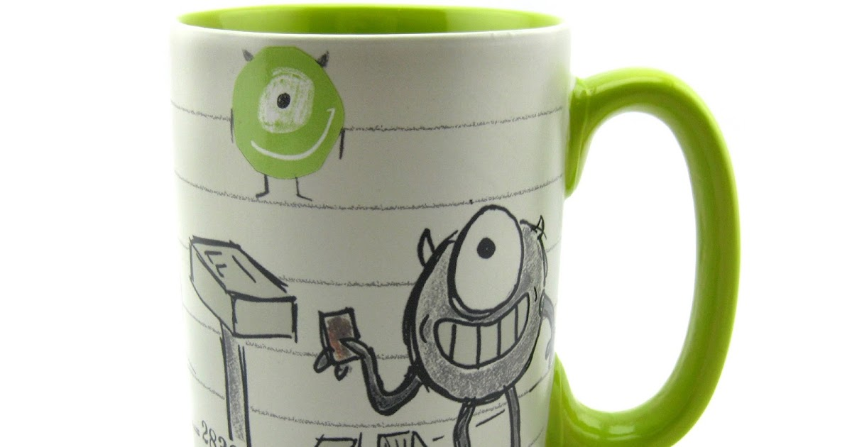 Dan the pixar fan monsters inc mike wazowski art of pixar mug - Walle and eve mugs ...