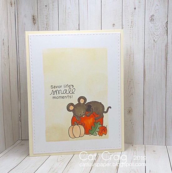 Savor life's small moments by Cat features Autumn Mice by Newton's Nook Designs; #newtonsnook