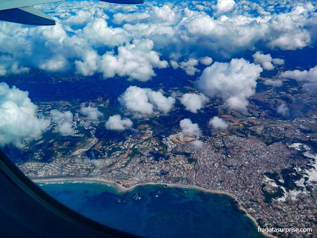 Vista aérea do Litoral de Salvador
