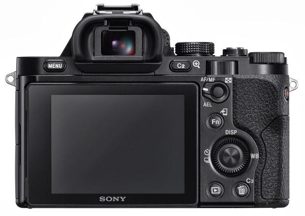 Fotografia del monitor della Sony A7R o ILCE-7R