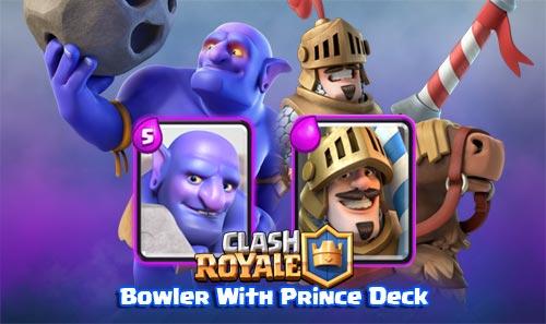 Deck Bowler Prince di Arena 8 Clash Royale
