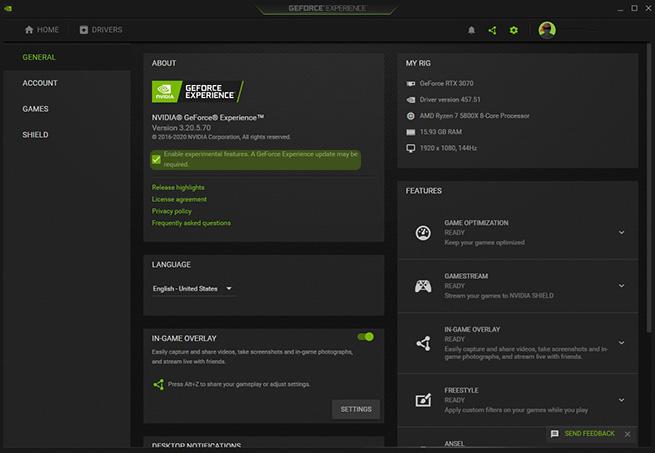 GeForce Experience tool