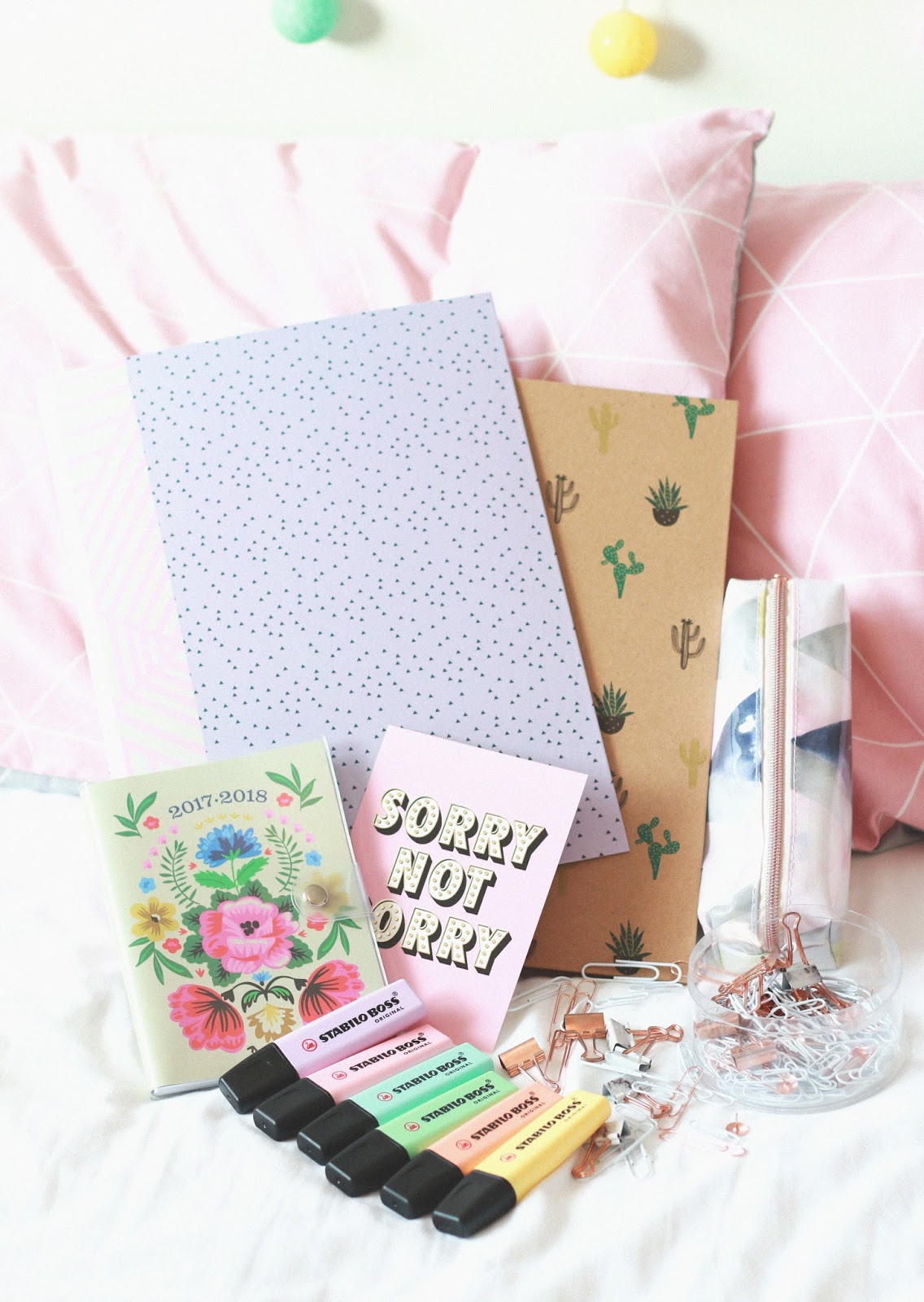 forever september, beauty, fashion, lifestyle, blogger, university, haul, stationery, wilko, paperchase, stabilo, highlighters, notebook, primark ,marble, copper, happy, ring binder, purple, cactus,