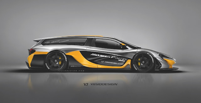 2017 McLaren P1 Pick-Up and Wagon Renders - #McLaren #P1 #supercar #tuning
