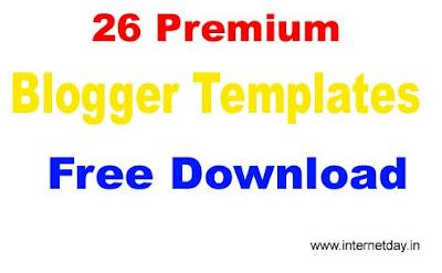 26 Premium Blogger Templates Free