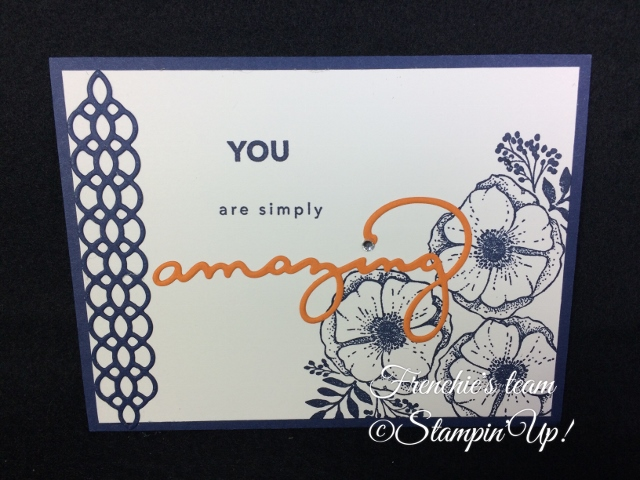 Amazing You, Sale a Bration and Occasion Stampin'Up! 2018, Frenchie stamps in the Spotlight,