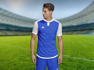 Free Adidas Style Soccer Jersey Sports T-Shirt Mockup PSD