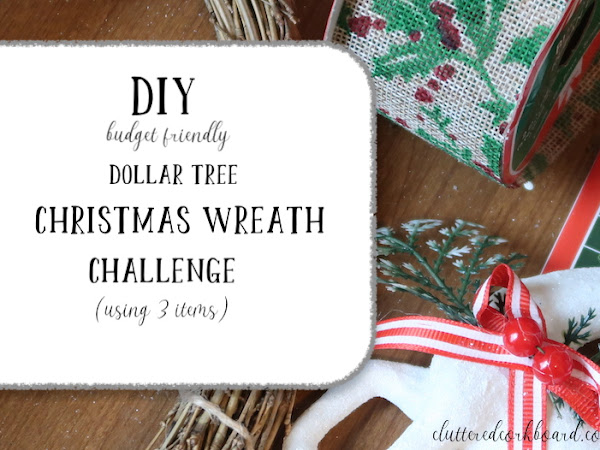 DIY Christmas Wreath Challenge using 3 items from Dollar Tree