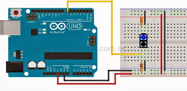 Circuito teste sensor óptico TCRT5000