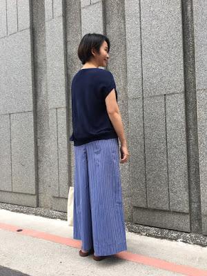 藍月星河長腿寬寬褲老幫手實穿