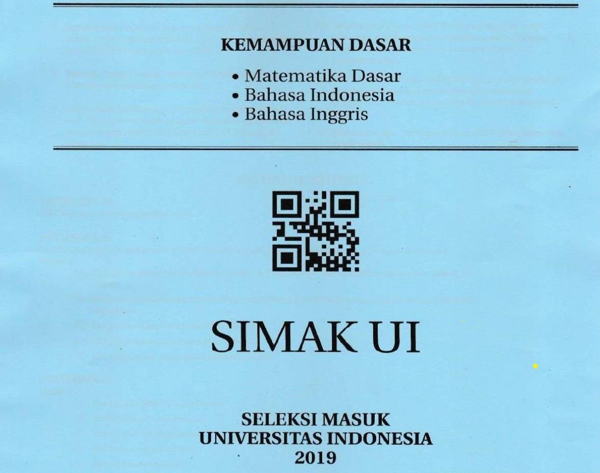 Kumpulan Soal SIMAK UI (Seleksi Masuk Universitas Indonesia) - Update Tahun 2019