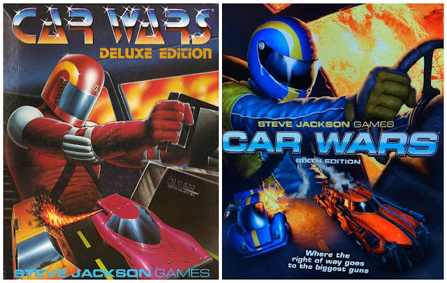 Car War Deluxe Edition (1985) cover and Car War Sixth Edition cover preview