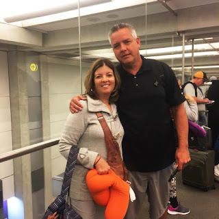 Eric and I at the airport on our trip to Israel | Visiting the Holy Land