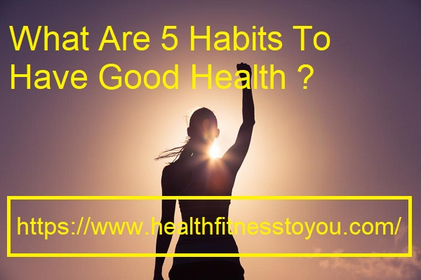 What Are 5 Habits To Have Good Health ?