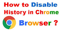 How to Disable History in Chrome Browser?