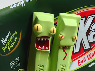 Convention Exclusive Kill Kat Matcha Snake Venom Edition Vinyl Figure by Andrew Bell debuting at Five Points Fest 2018