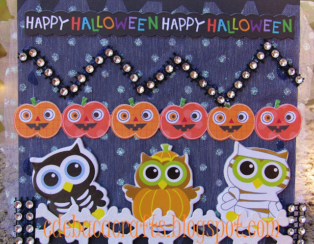 Happy Halloween kid friendly card by CdeBaca Crafts.