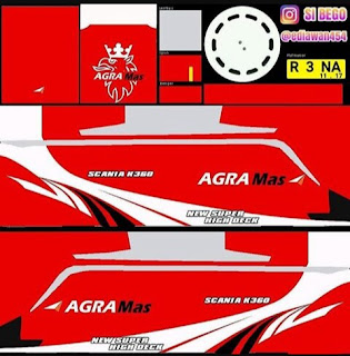 Download Livery Bus Agra Mas