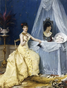 Подборка картин Леди в желтом