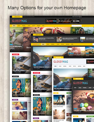 Glossy mag blogger template