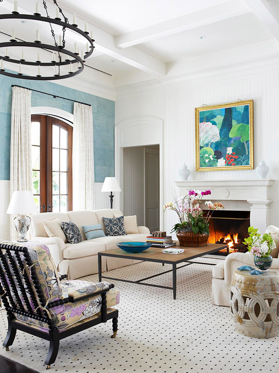 Latest Drawing Room Design: New Home Interior Design: Add Color To Your Living Room