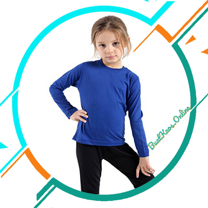 Jual Kaos Polos Lengan Panjang Anak Perempuan