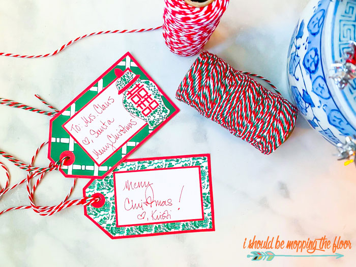Chinoiserie Chic Christmas Tags