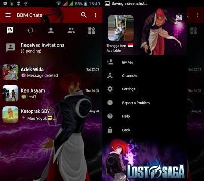 BBM MOD Lost Saga Base 3.0.1.25 APK (BBM TEMA KARTUN) By Trangga Ken