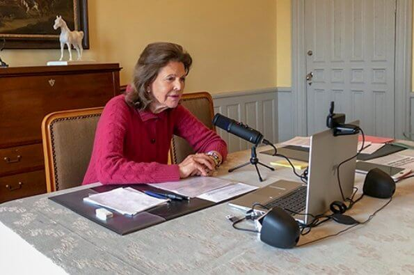 Queen Silvia held a video conference with Director Olivia Wigzell and medical expert Frida Nobel