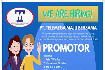 Lowongan Kerja Bandung Promotor PT. Telemega Maju Bersama