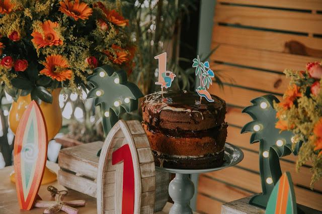 bolo festa praia
