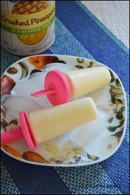 Pineapple Coconut Milk Posicles