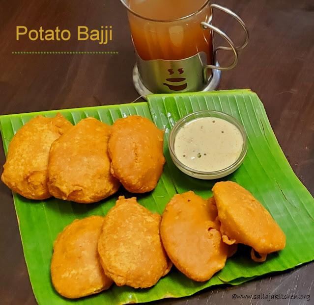 images of Potato Bajji / Aloo Bajji / Urulaikilangu Bajji / Aloo Bhajia / Bajji Recipe / Teatime Snack