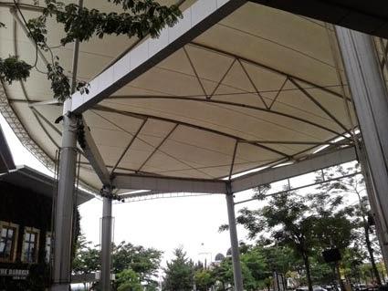 Atap Tensile Membrane Di Sumarecon Mall Serpong