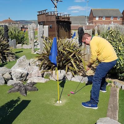 Pirate Cove Adventure Golf course in Aberavon, Wales. May 2019