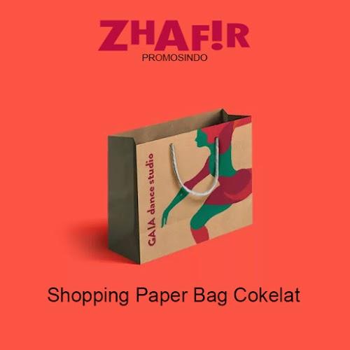 Cetak Shopping Paper Bag Cokelat