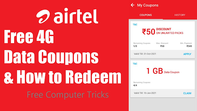 How to Redeem Airtel Data Coupons?