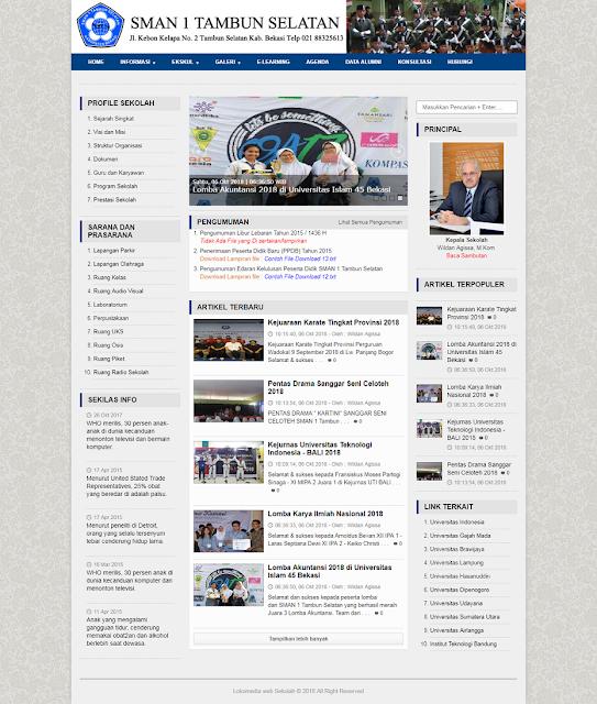 Website dan CMS Portal Informasi Sekolah