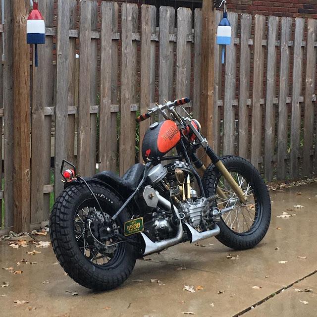 Harley Davidson Panhead By Garage Built Bob Hell Kustom