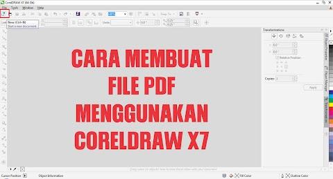 Cara membuat File PDF menggunakan CorelDraw x7