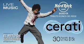 CERATI en el Hard Rock Café Bogotá