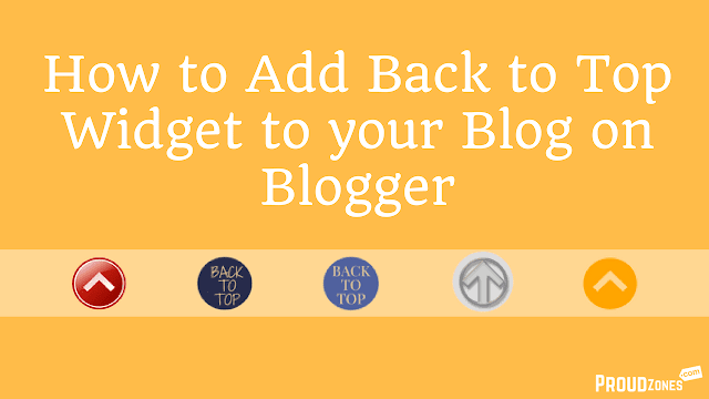 how to add back to top buttton to blogger blog
