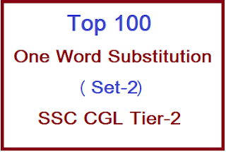 One Word Substitution for SSC CGL Tier 2, one word substitution in english, google one word substitution