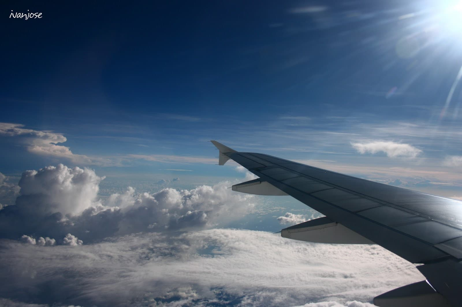 Flight back to Manila from Mindanao