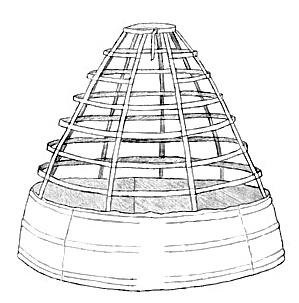 Каркас из китового уса на юбке