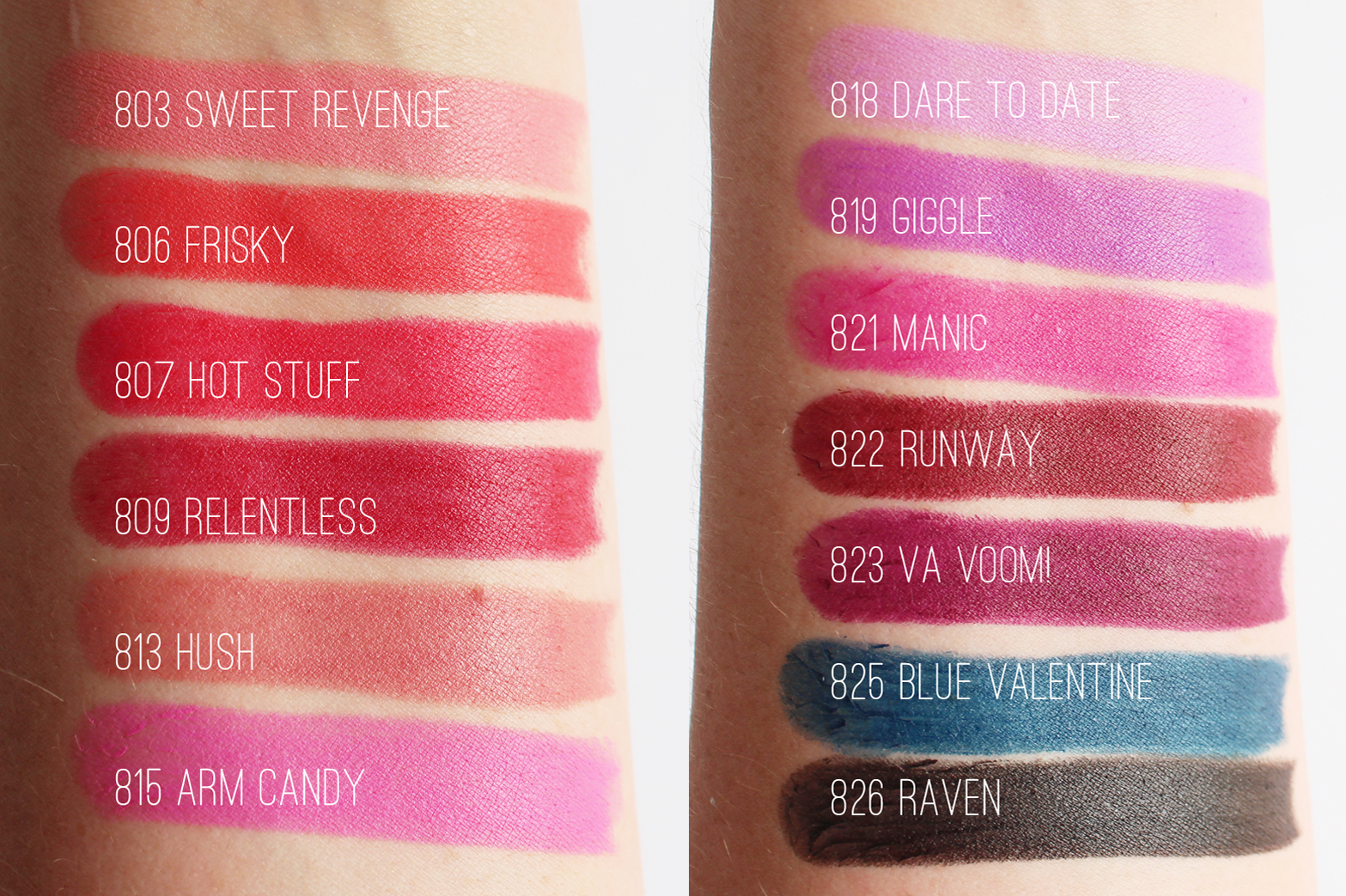 L.A. GIRL | Matte Flat Velvet Lipsticks - 13 Shades - Review + Swatches - CassandraMyee
