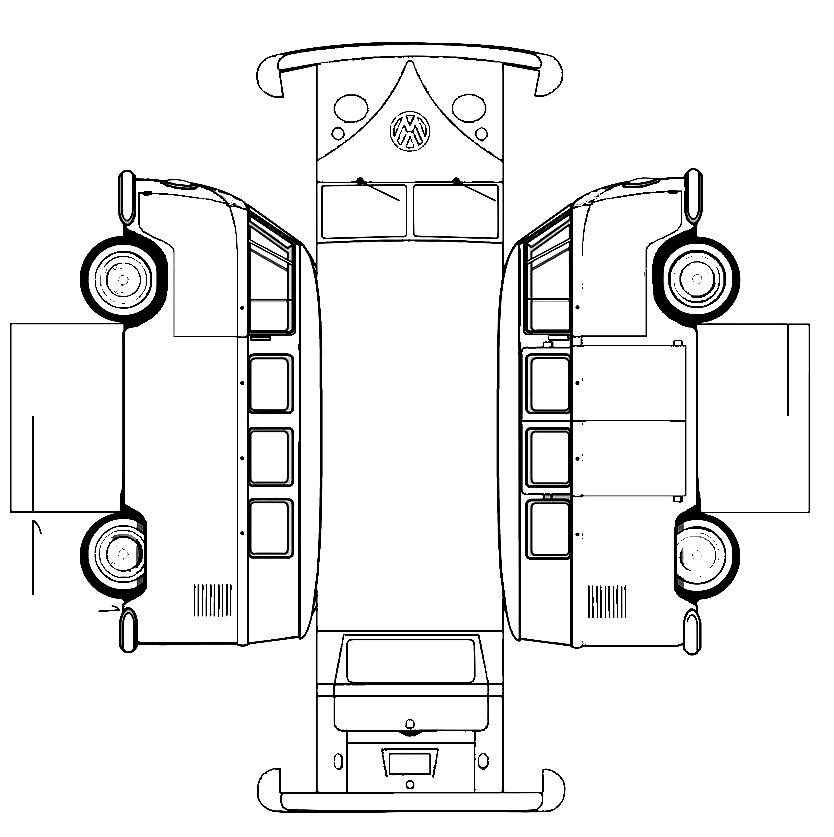 My VW Bus: Papercraft 2