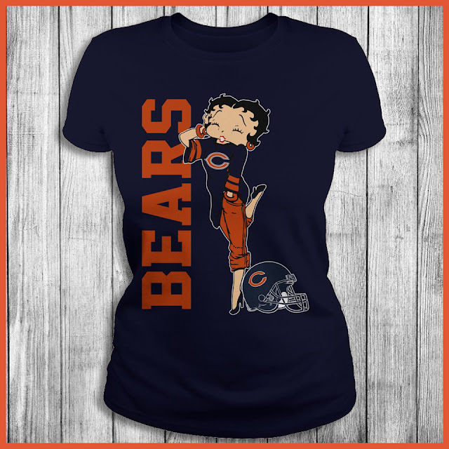 Chicago Bears Betty Boops T-Shirt