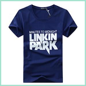 Kaos Katun Pria Linkin Park O Neck - OMPK9OBL