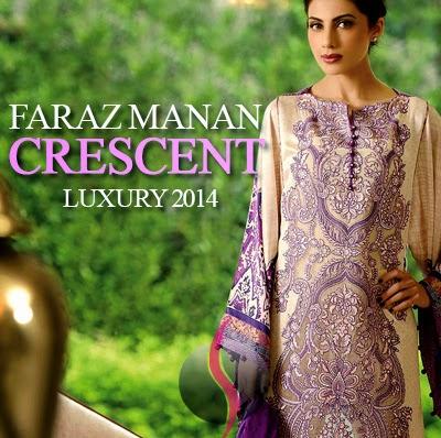 20498f5dda Faraz Manan Crescent - Luxury Collection 2014 For Eid ul Azha - She9 ...